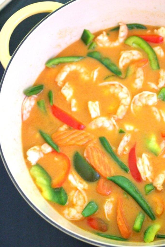 Simple Thai Red Curry with Shrimp Recipe
