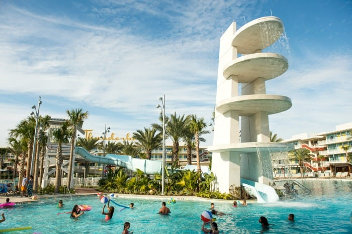 Swimming in heated pool at Cabana Bay Beach Resort Hotel Great for Kids and Children