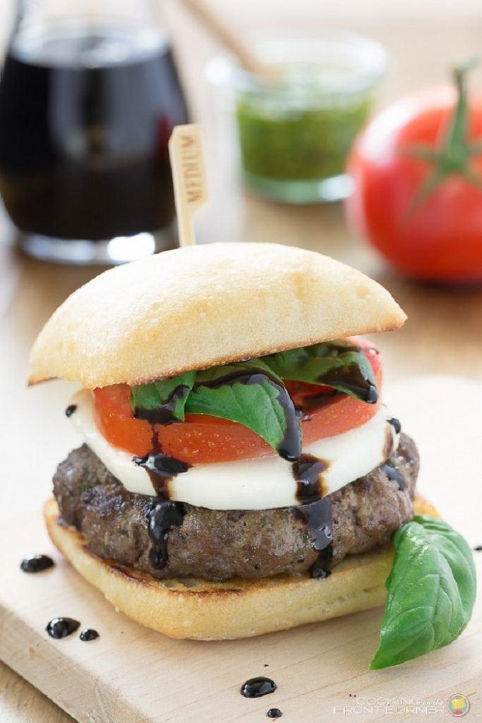 Caprese Burger with Balsamic Glaze