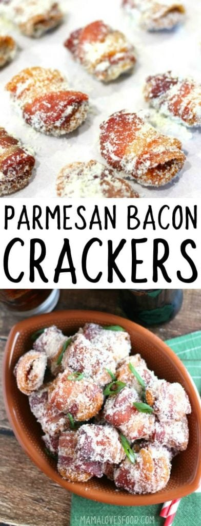 PARMESAN BACON WRAPPED CRACKERS RECIPE