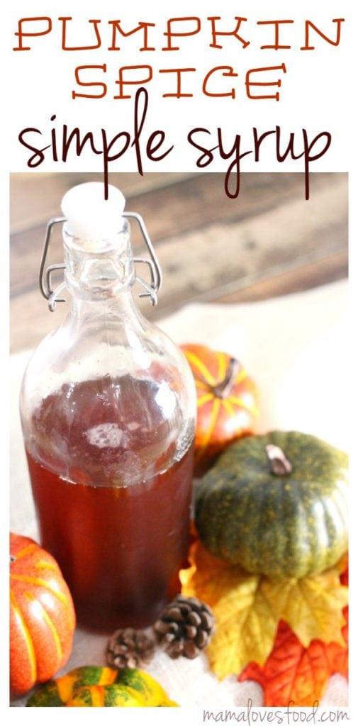 Pumpkin Spice Simple Syrup Recipe