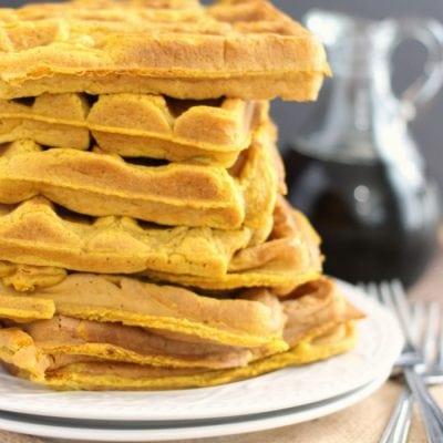 Simple Pumpkin Spice Waffles