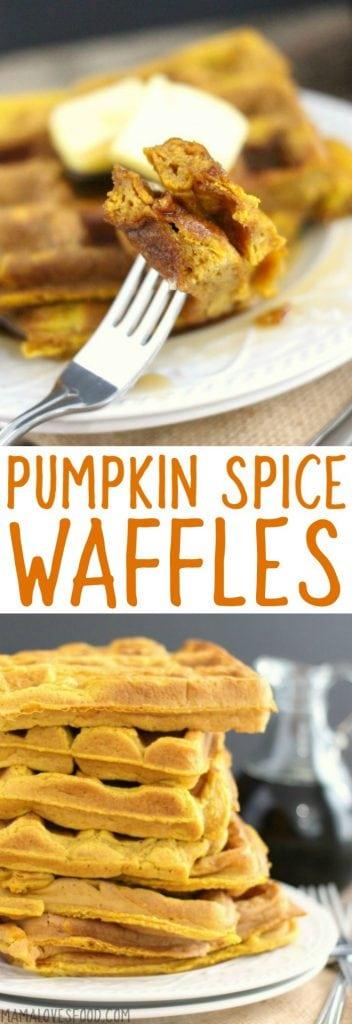 Really Simple Pumpkin Spice Waffle
