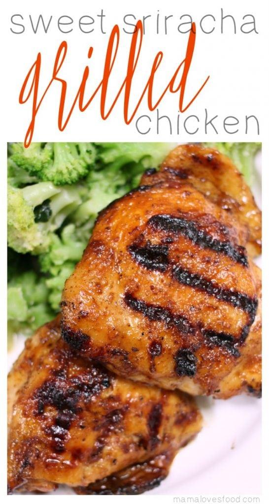 Sweet Sriracha Grilled Chicken Recipe