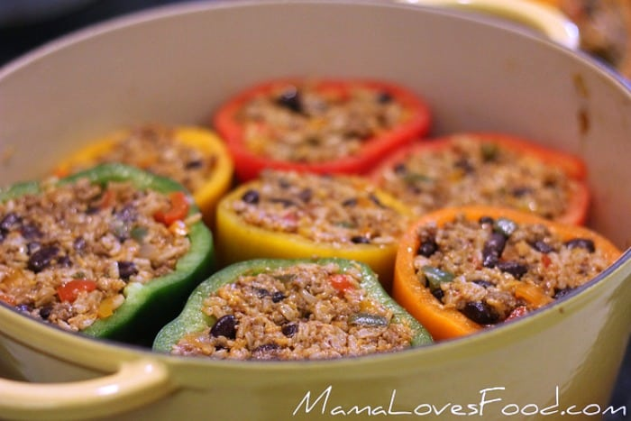 Ready to Bake Mexican Stuffed Bell Peppers