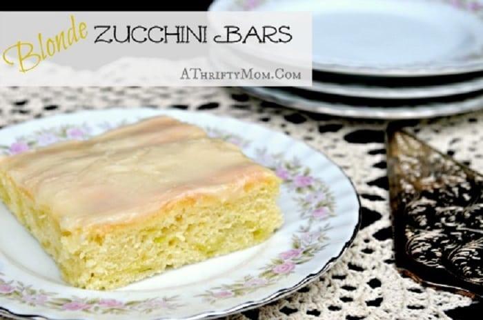 Blonde Zucchini Bars