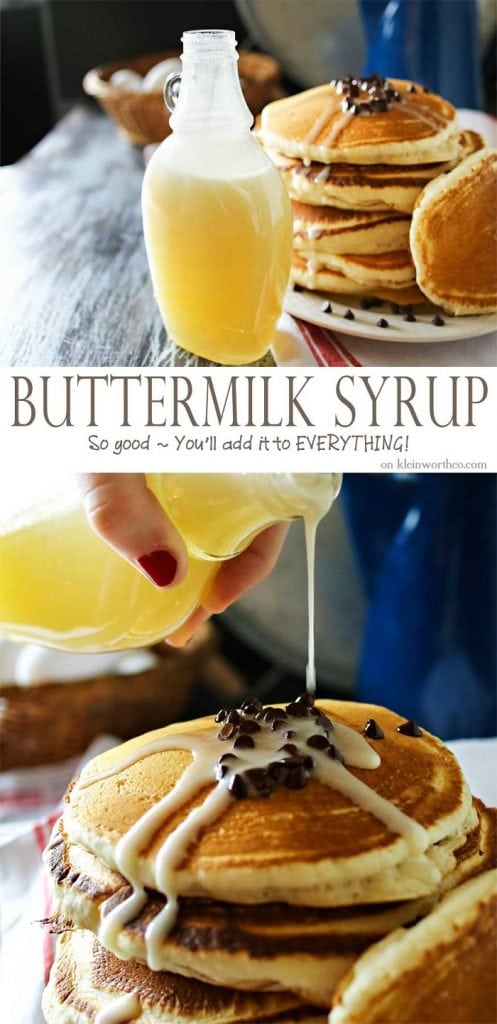 Homemade Buttermilk Syrup