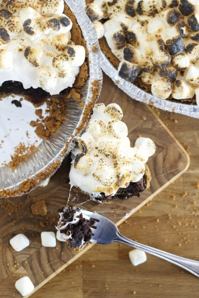 Brownie S'mores Pie Recipe