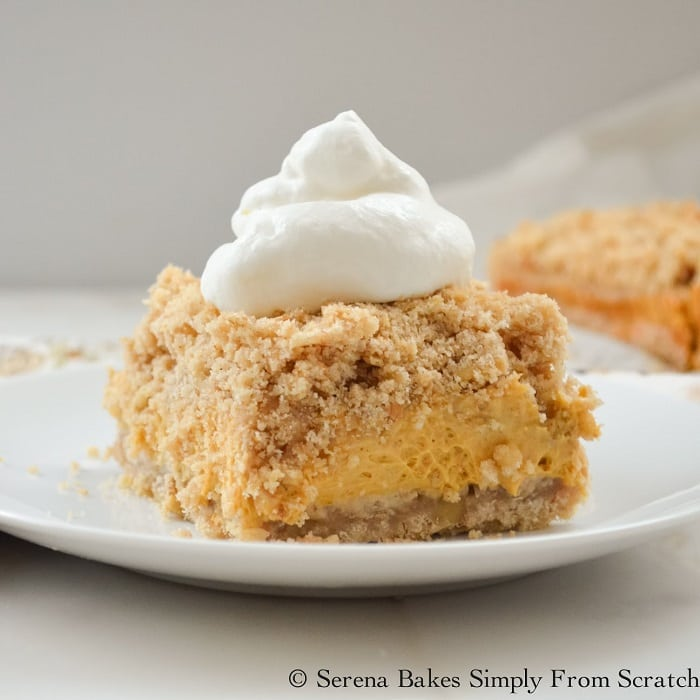 Pumpkin Cheesecake Crumb Bars