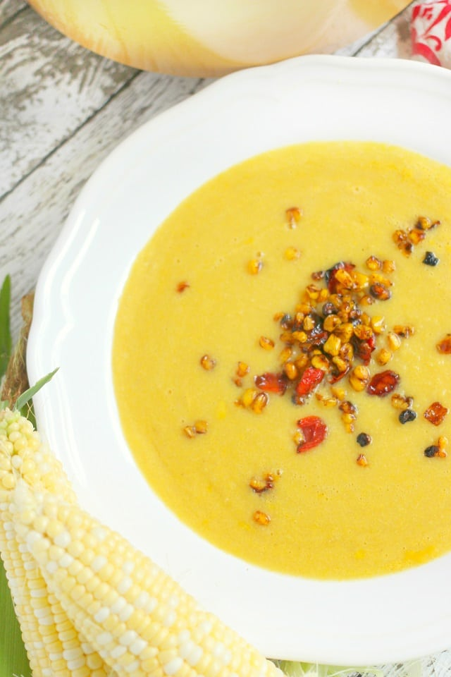 Creamy Sweet Corn Soup with Roasted Corn and Tomato Relish ...