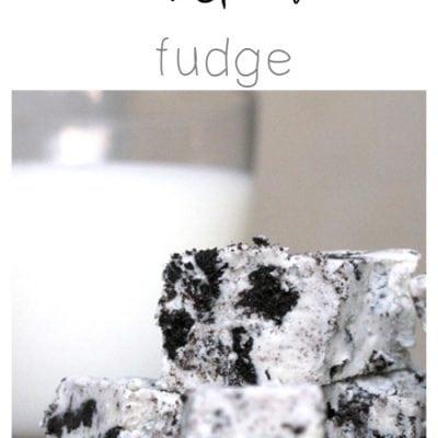 Three Ingredient Cookies and Cream Fudge Recipe