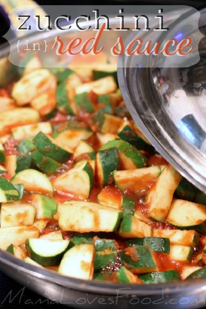 Zucchini in Red Sauce