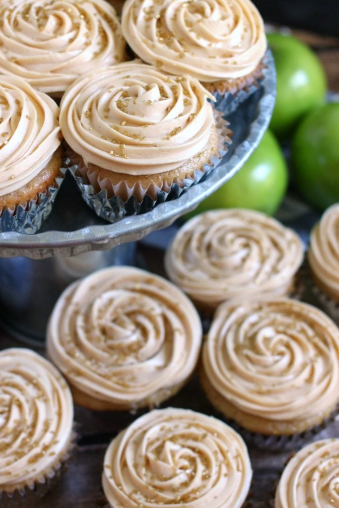 Spiced Apple Cider Cupcakes with Salted Caramel Frosting Recipe