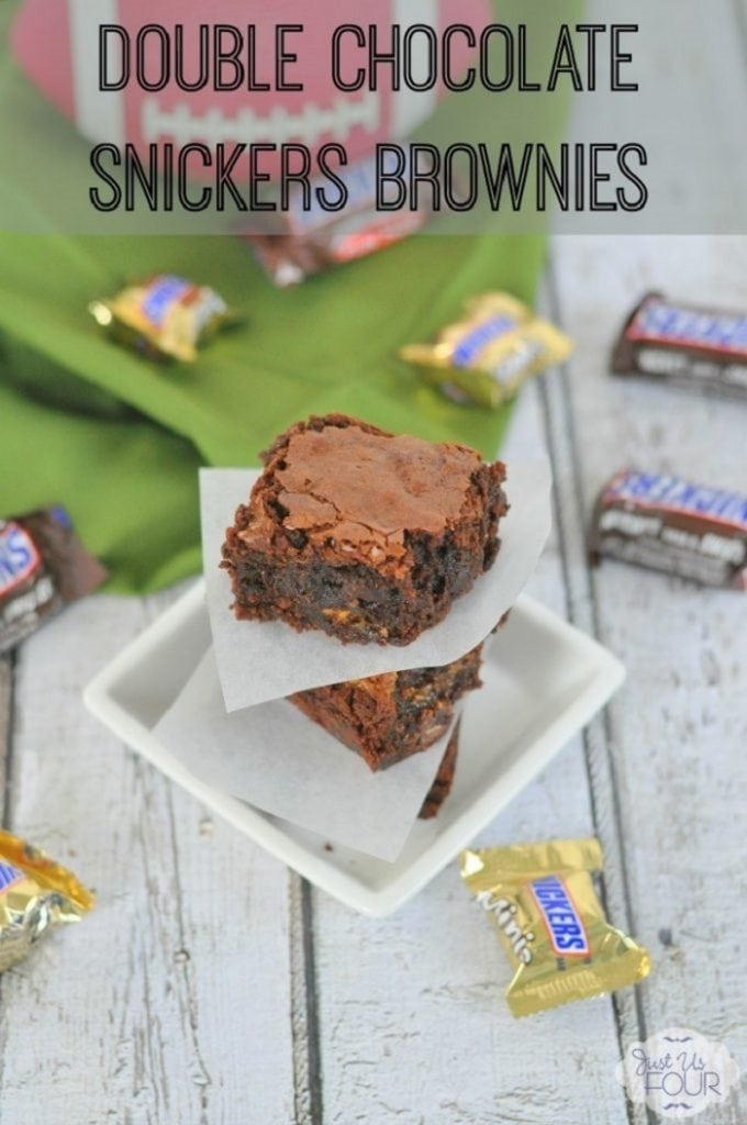 Double Chocolate Snickers Brownies