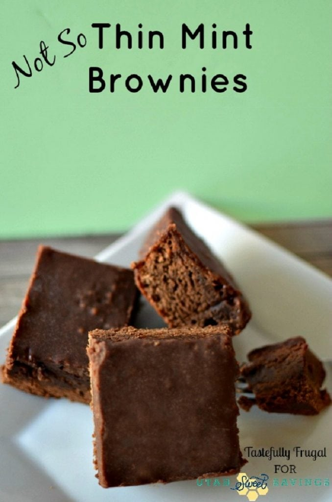 Not So Thin Mint Brownies