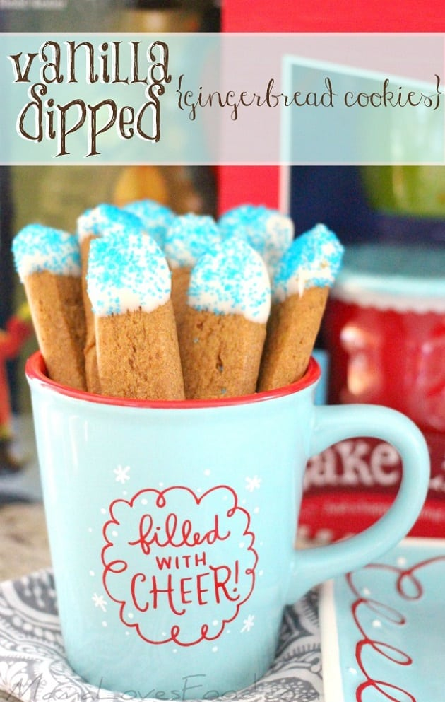 vanilla dipped gingerbread cookies