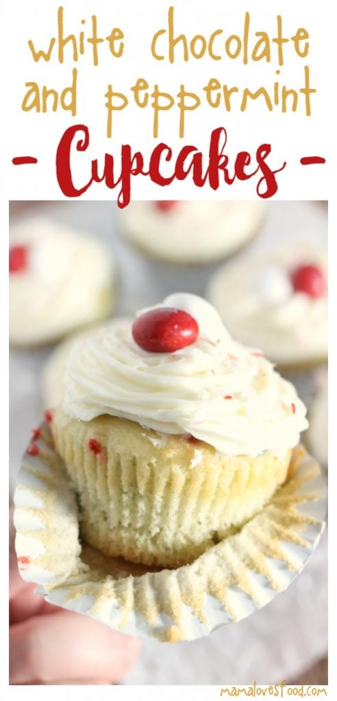 White Chocolate and Peppermint Cupcakes Recipe