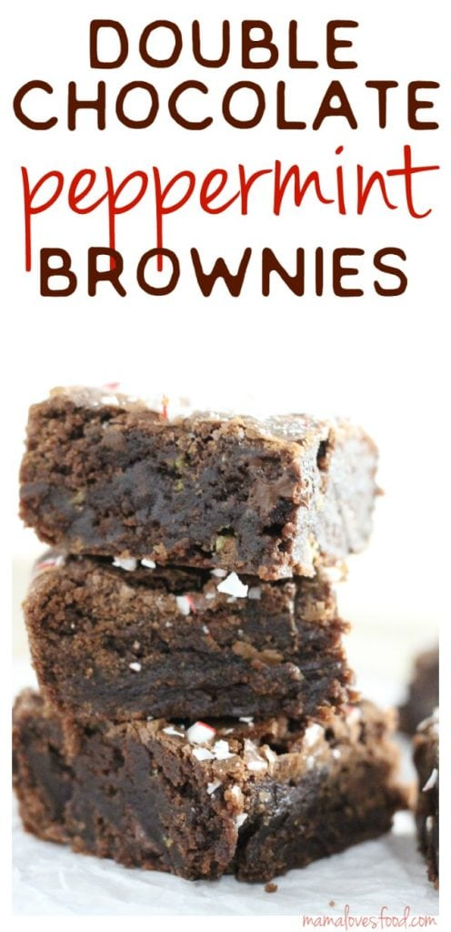 Double Chocolate Peppermint Brownies