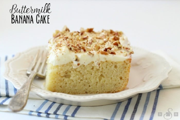 Buttermilk Banana Cake