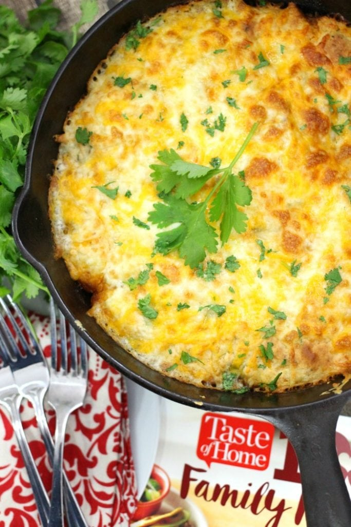 One Pot Mexican Skillet Bake - Beef and Cheese Cobbler Recipe