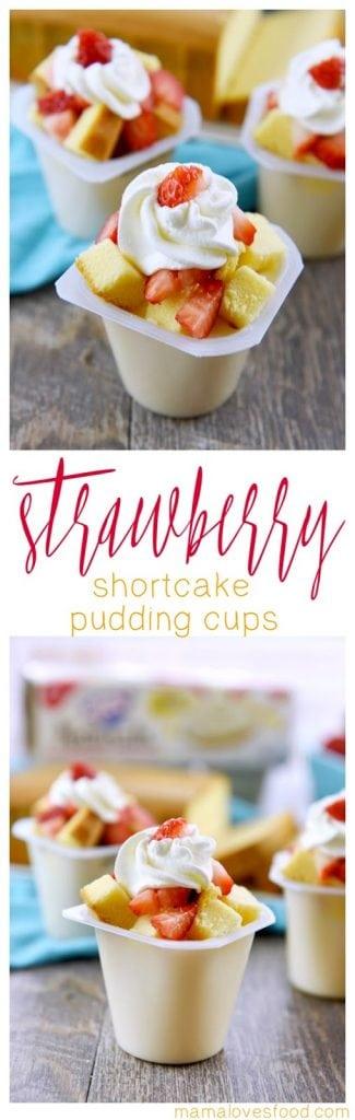 Strawberry Shortcake Pudding Cups Recipe