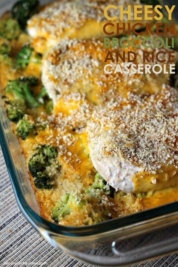 Cheesy Chicken, Broccoli & Rice Casserole