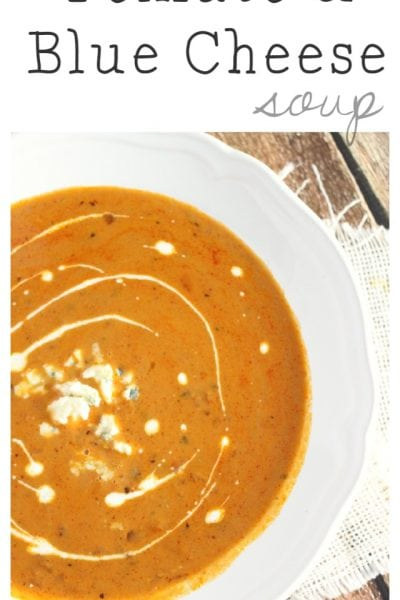 Creamy Tomato and Blue Cheese Soup