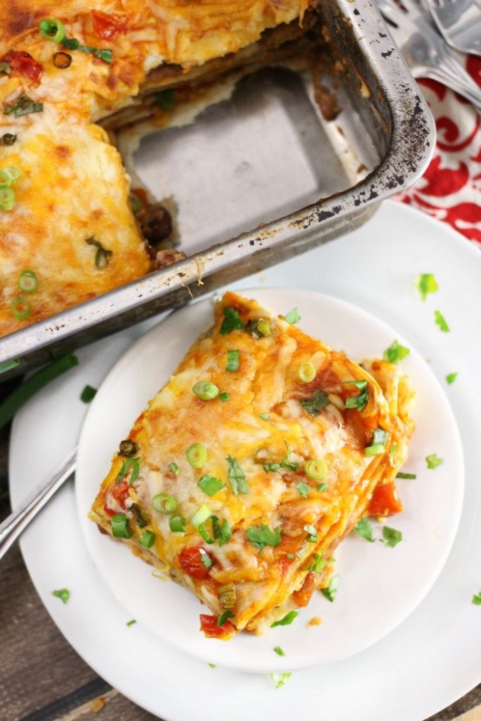 Deep Dish Taco Bell Mexican Pizza Casserole Bake Recipe
