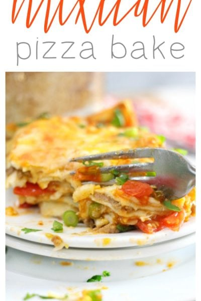 Deep Dish Mexican Pizza Bake Recipe
