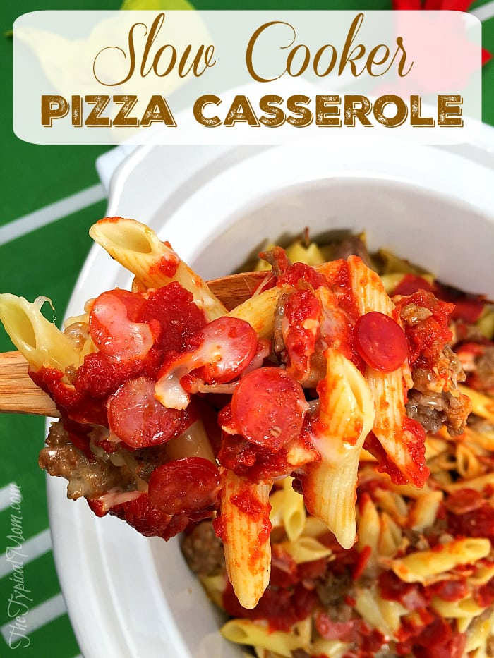 Slow Cooker Pizza Casserole