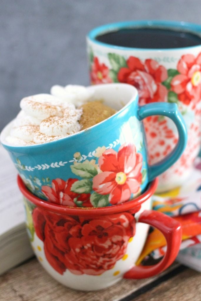 Easy Cinnamon Mug Cake Recipe made in the microwave