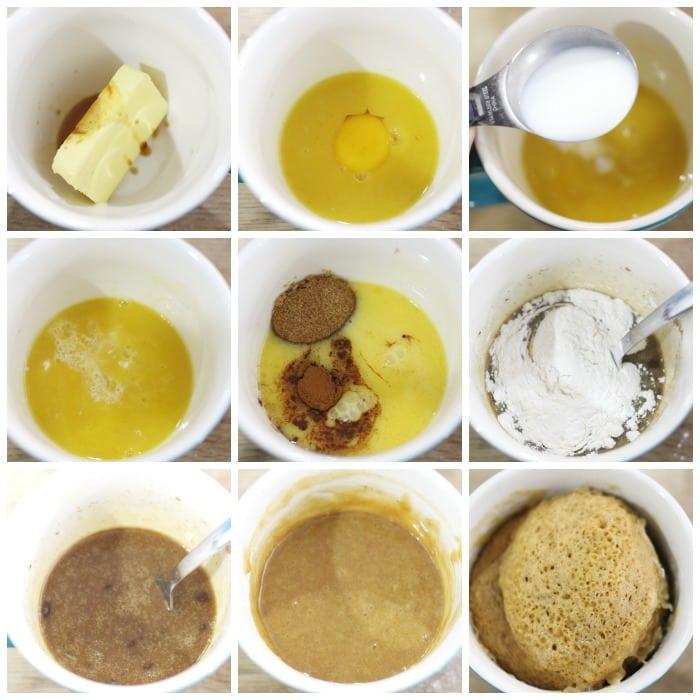 Easy Cinnamon Mug Cake Recipe made in the microwave