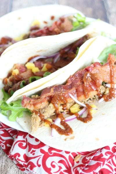 Bacon Pineapple Pulled Pork Tacos