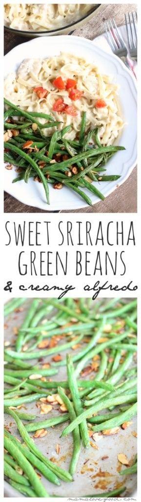 Sweet Sriracha Roasted Green Beans Recipe