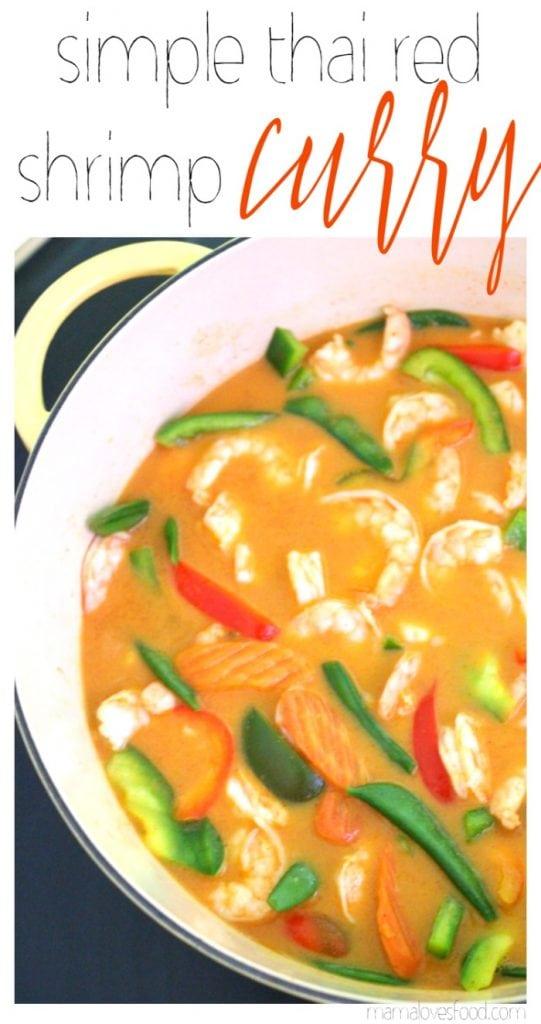 Simple Thai Red Shrimp Curry Soup