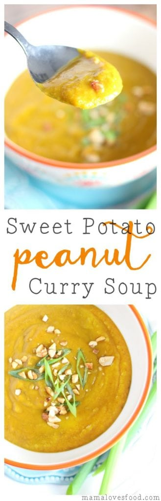 Sweet Potato Peanut Curry Soup Recipe