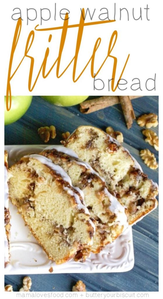 Apple walnut fritter bread is a delicious quick bread recipe