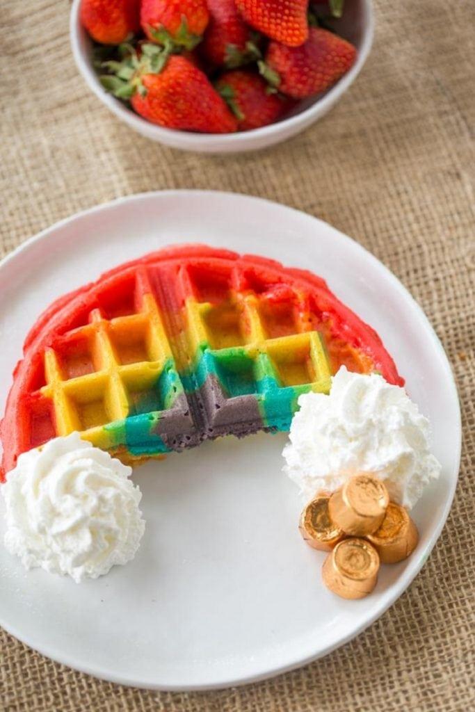 Belgian Rainbow Waffles