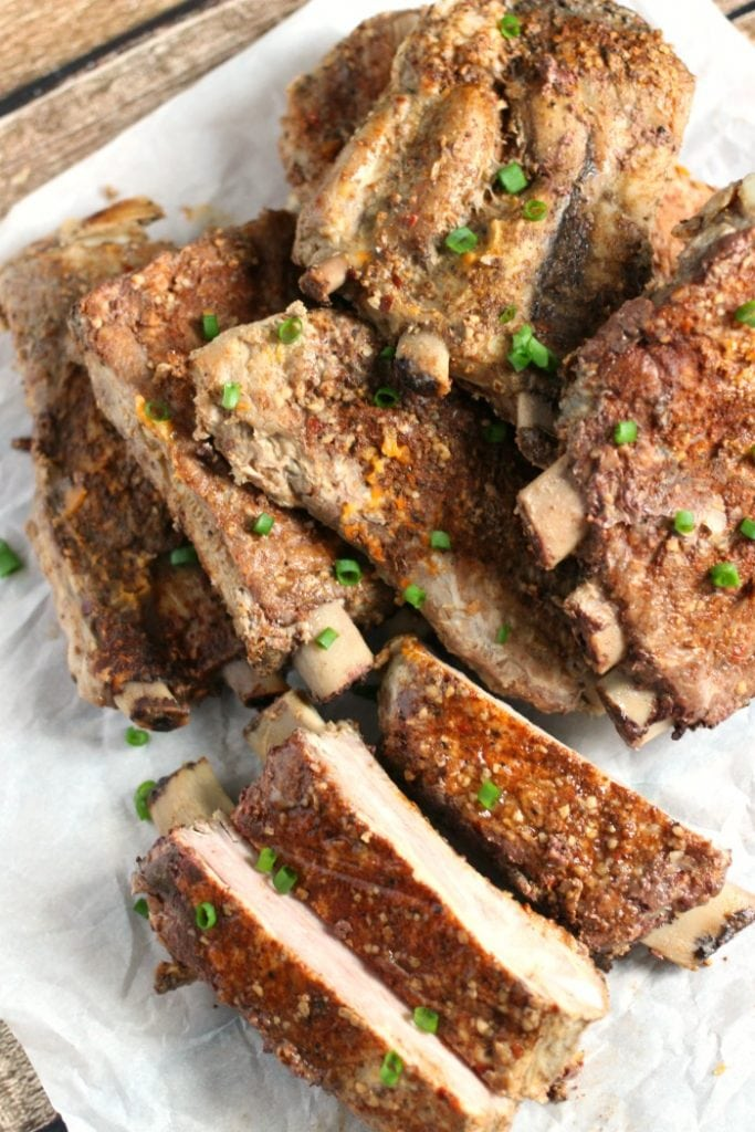 make your ribs low carb by skipping the barbecue sauce and using a delicious rib rub instead