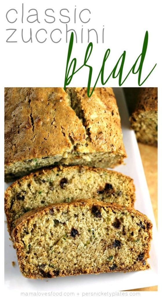 zucchini bread is the perfect solution for when you have too much zucchini from your garden