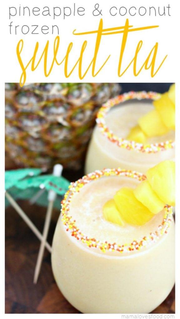 Pineapple and Coconut Frozen Sweet Tea Recipe