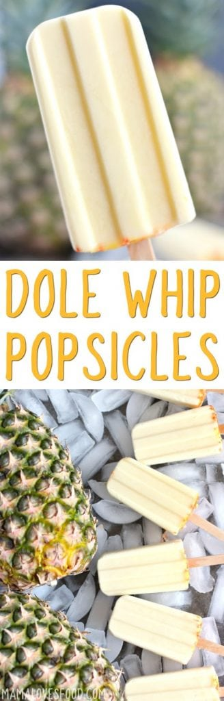 Adventure Land Dole Whip Popsicle