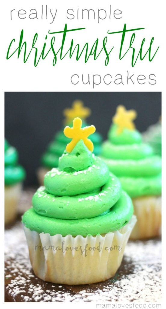 Really Simple Christmas Tree Cupcakes