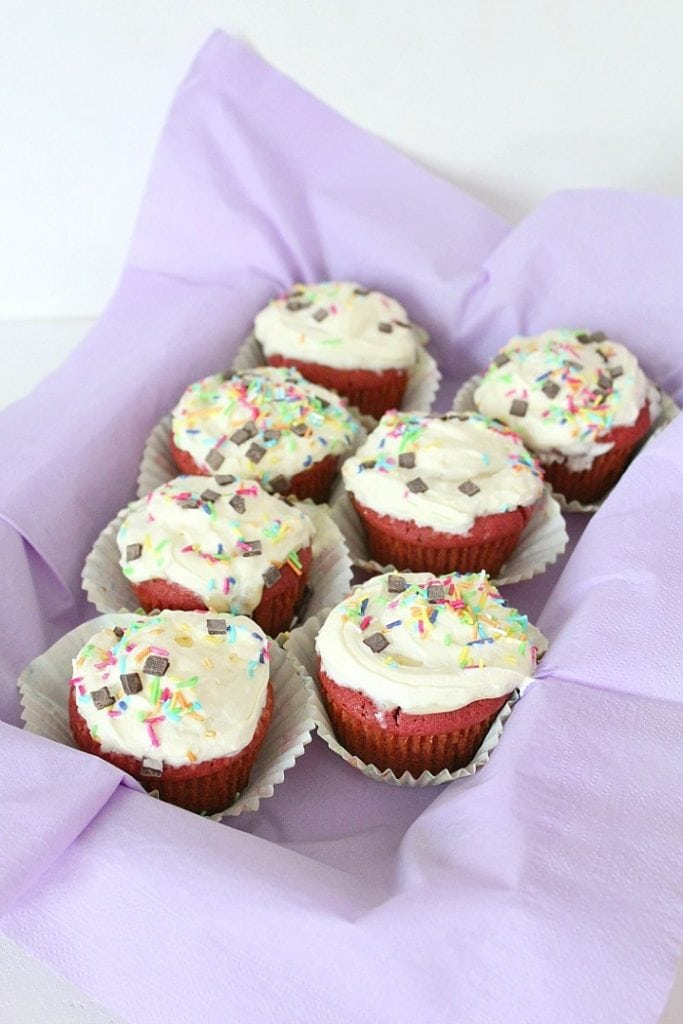 Red Velvet Cookie Cupcakes