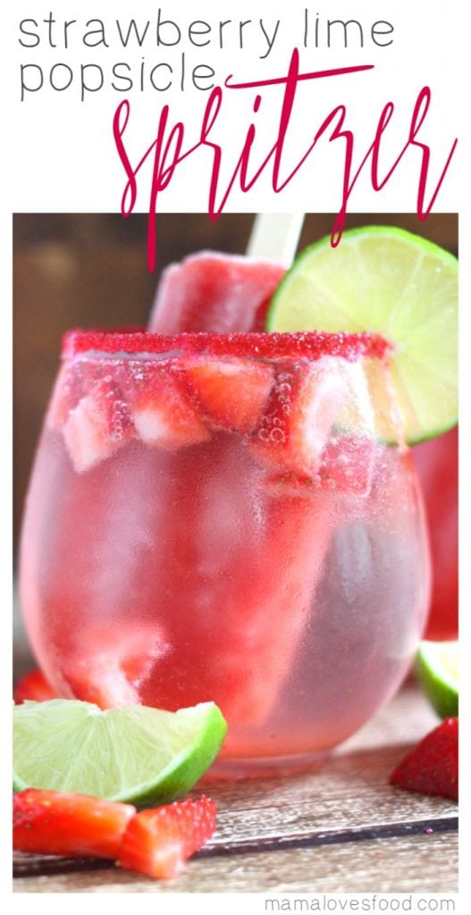 Strawberry Lime Popsicle Spritzer Recipe