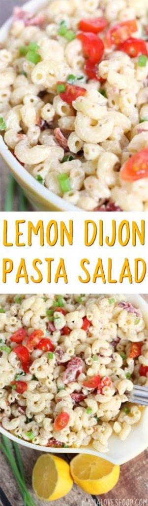 Macaroni Salad with Bacon Tomatoes Dijon and Lemon