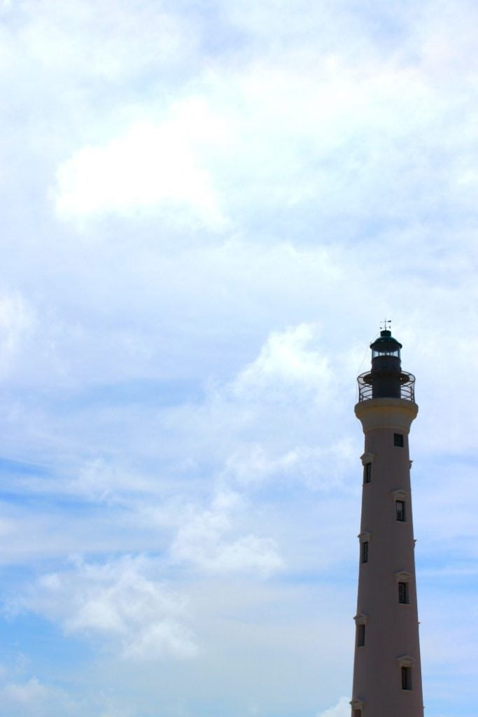 the california lighthouse in aruba