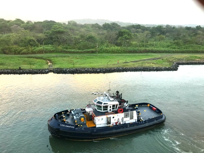 Small ships in the Panama Canal