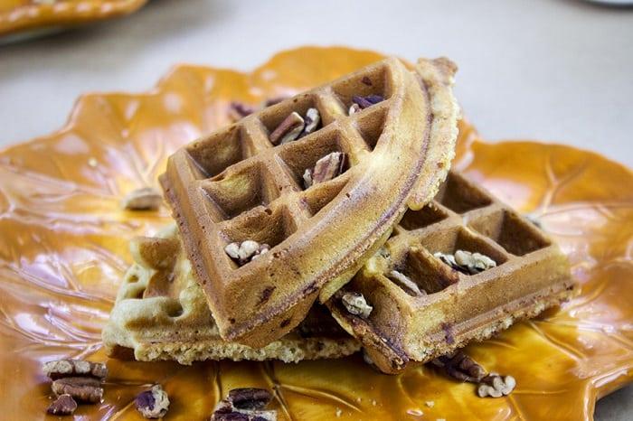 Brown Sugar Pecan Buttermilk Waffles