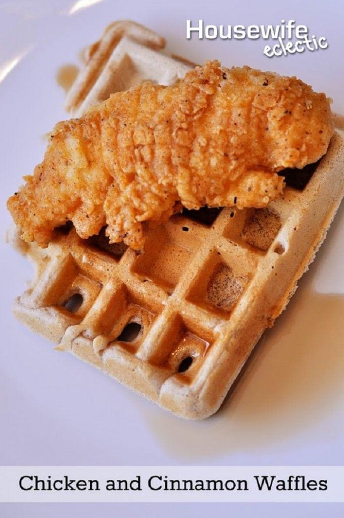 Chicken and Cinnamon Waffles